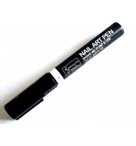 Pisak do zdobienia paznokci - 7 ml - czarny