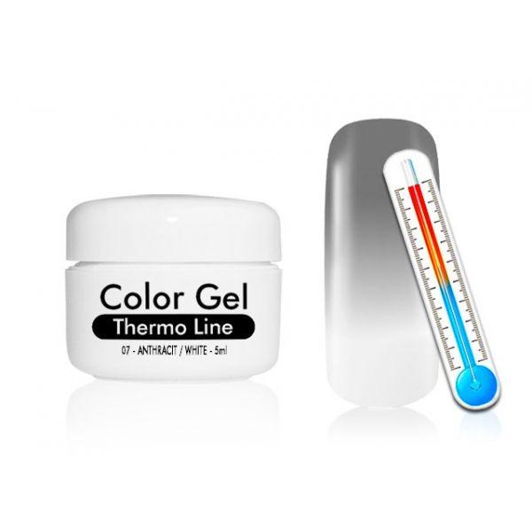 Żel UV Thermo Line - termiczny 07 Anthracit / White