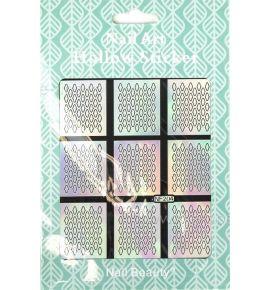 Hollow Stickers - Naklejki szablony do manicure NF204