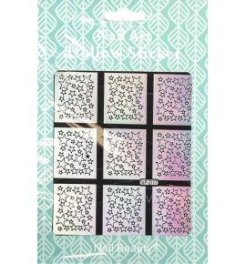 Hollow Stickers - Naklejki szablony do manicure NF207