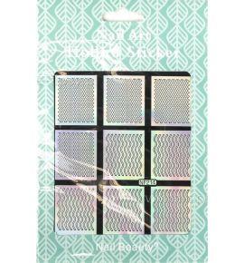 Hollow Stickers - Naklejki szablony do manicure NF214