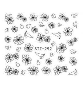 NAKLEJKI Kwiaty STZ-292