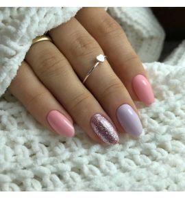 Pastelowa stylizacja manicure hybrydowy wiosna 2022