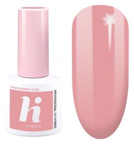 218 hi hybrid Travel lakier hybrydowy Pink Marble 5 ml