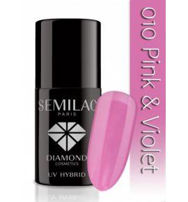Lakier hybrydowy 010 Pink & Violet