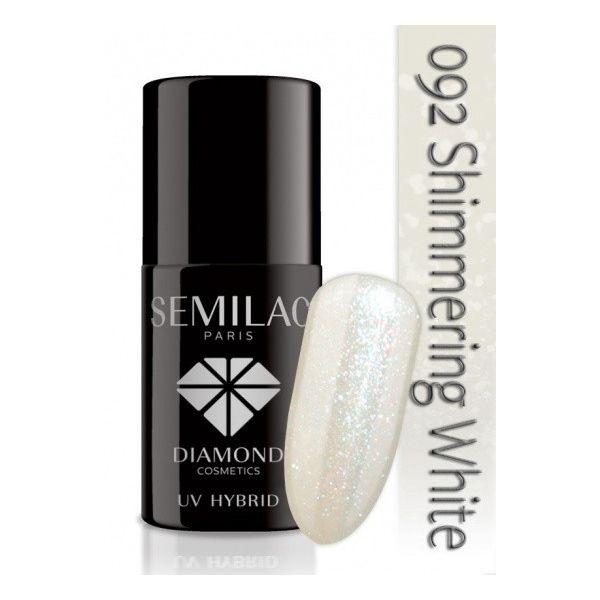 Lakier hybrydowy 092 Shimmering White