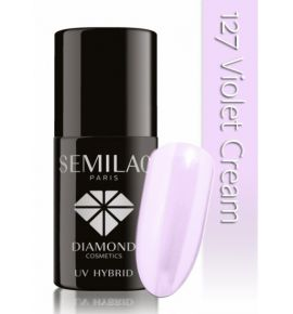 Lakier hybrydowy 127 Violet Cream 7ml