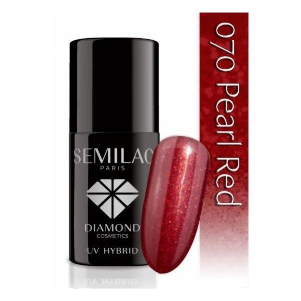 Lakier hybrydowy 070 Pearl Red