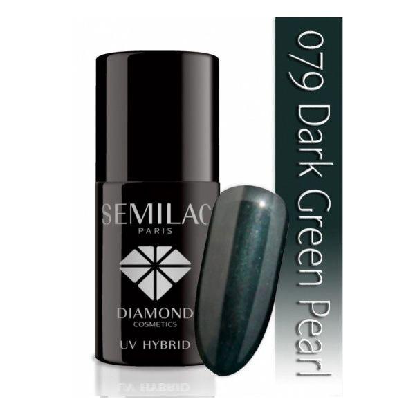 Lakier hybrydowy 079 Dark Green Pearl