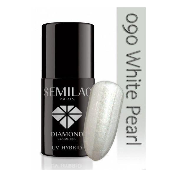 Lakier hybrydowy 090 White Pearl