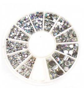 Karuzela ozdoba cyrkonie kryształki mix R121