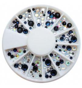 Karuzela ozdoba cyrkonie kryształki mix R255