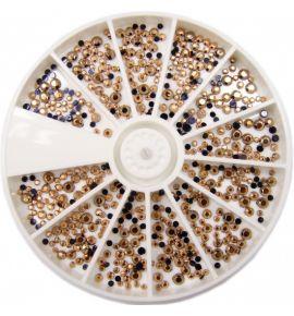 Karuzela ozdoba cyrkonie kryształki mix R105