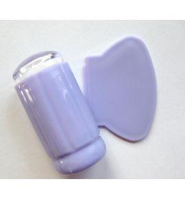 Stempel silikonowy ze zdrapką - lawendowy