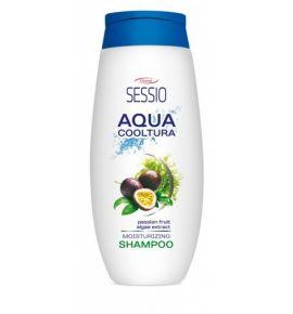 SESSIO AQUA COOLTURA Szampon nawilżający Marakuja i Algi - włosy suche, łamliwe