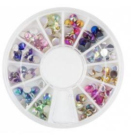 Karuzela ozdoba cyrkonie kryształki mix R60
