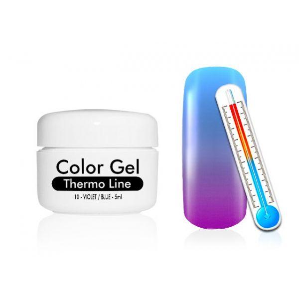 Żel UV Thermo Line - termiczny 10 Violet / Blue