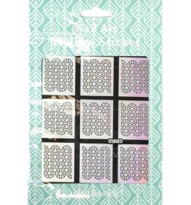 Hollow Stickers - Naklejki szablony do manicure NF208