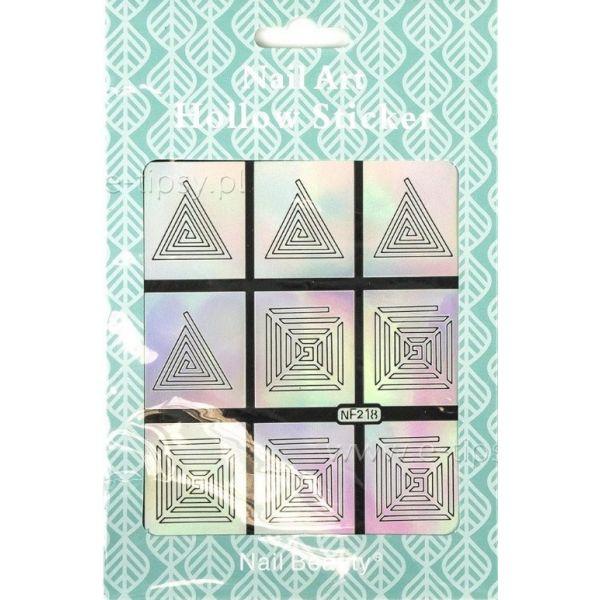 Hollow Stickers - Naklejki szablony do manicure NF218