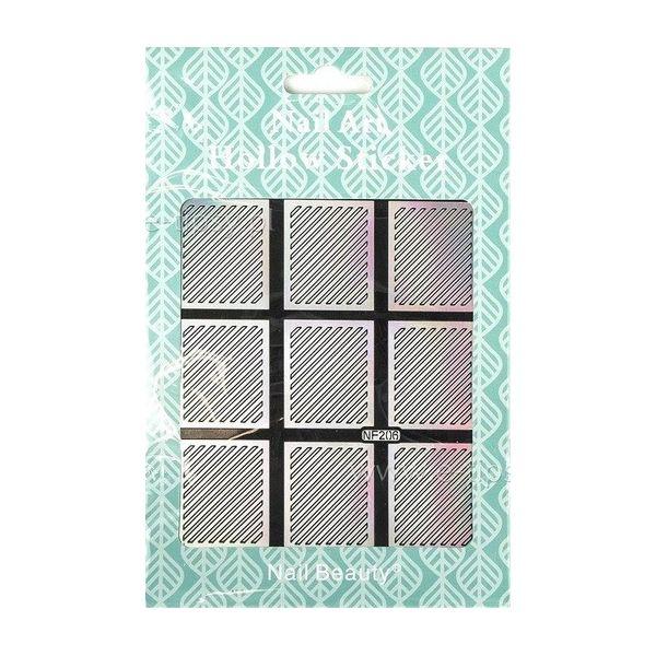 Hollow Stickers - Naklejki szablony do manicure NF206