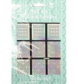 Hollow Stickers - Naklejki szablony do manicure NF223