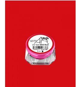 Semi Art UV Gel 003 Red - Żel do zdobień