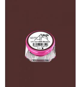 Semi Art UV Gel 005 Brown - Żel do zdobień