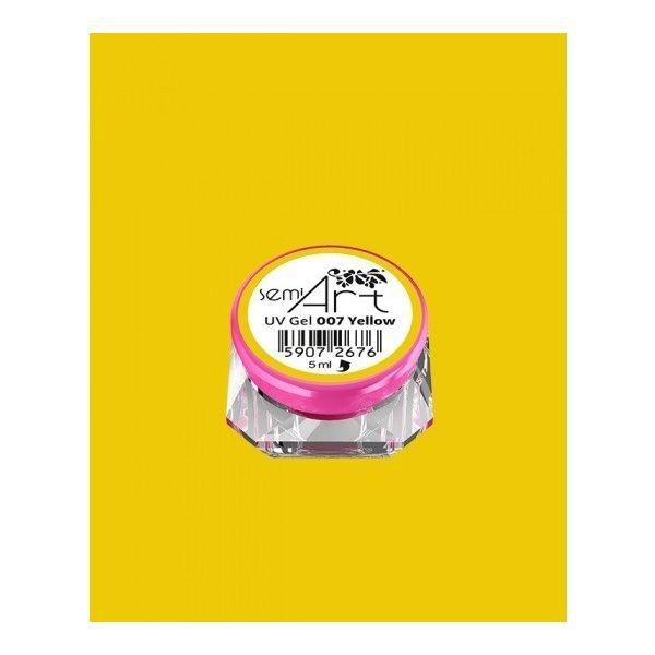 Semi Art UV Gel 007 Yellow - Żel do zdobień