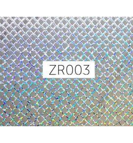 Naklejki do paznokci 3D - holograficzna siatka ZR003