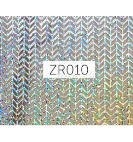 Naklejki do paznokci 3D - holograficzna siatka ZR010