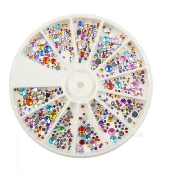 Karuzela ozdoba cyrkonie kryształki mix R213