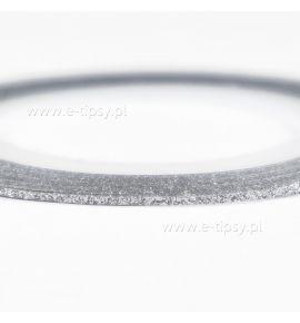Taśma do zdobień Metallic Glitter Silver