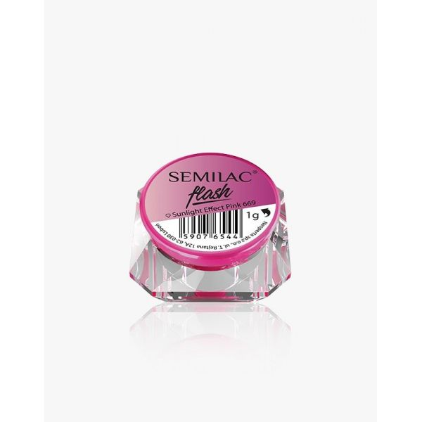 Semilac Flash Sunlight Effect Pink 669