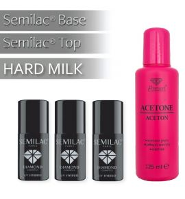 Zestaw Baza + Top + Hardi Milk + Aceton 125 ml gratis