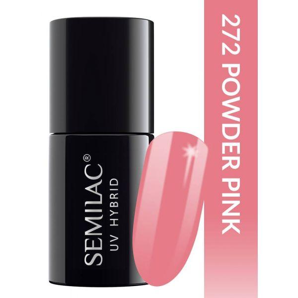 Semilac Lakier hybrydowy PasTells Powder Pink 272