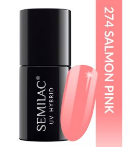 Semilac Lakier hybrydowy PasTells Salmon Pink 274