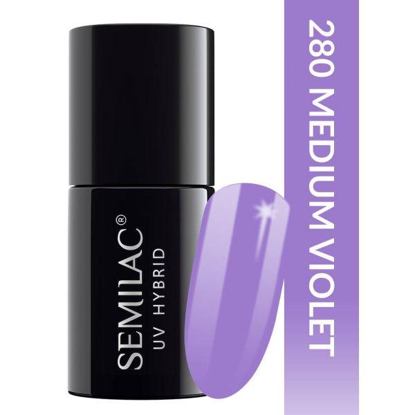 Semilac Lakier hybrydowy PasTells Medium Violet 280