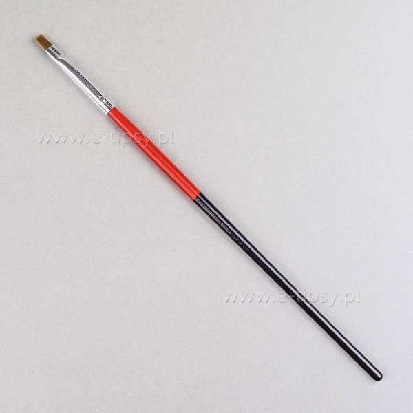 Pędzelek do żelu rozmiar 2 - czarno czerwony