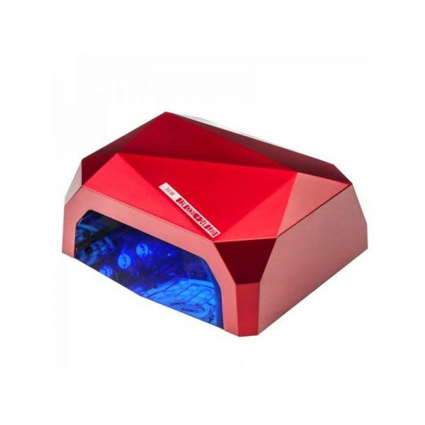 LED LAMPA CCFL UV 36W do LAKIERY HYBRYDOWE ŻELE UV - czerwona