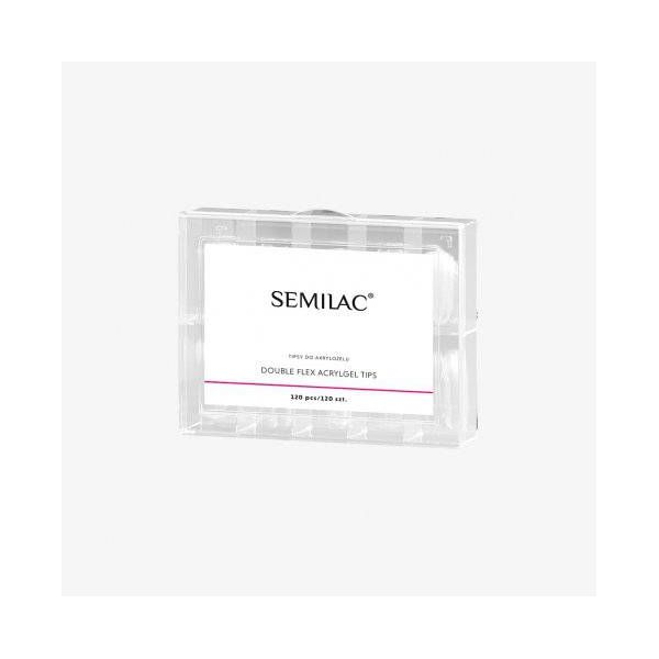 Semilac formy do akrylożelu Double Flex Acrylgel Tips 120szt.