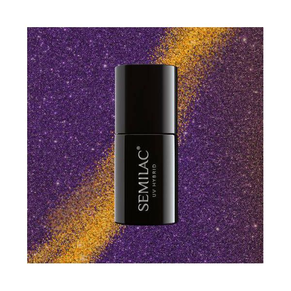 Semilac lakier hybrydowy 315 Magic Cat Eye Violet 7ml