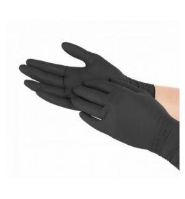 Rękawice rękawiczki nitrylowe m czarne