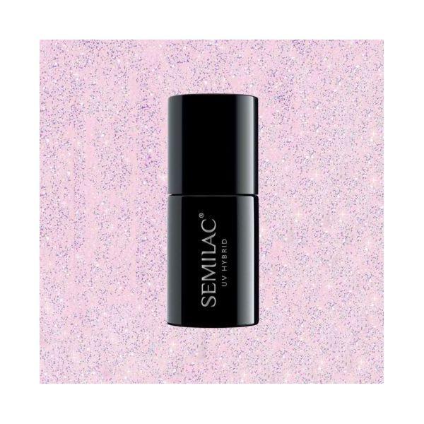 806 Semilac Extend 5in1 Glitter Delicate Pink