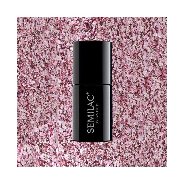 294 Lakier hybrydowy Semilac Rose Pink Shimmer 7ml