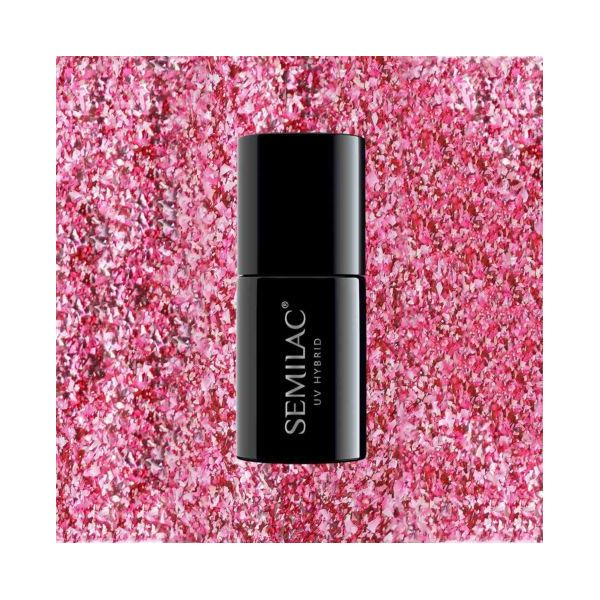 296 Lakier hybrydowy Semilac Intense Pink Shimmer 7ml