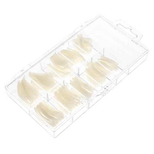 Tipsy naturalne mleczne z długą kieszonką - 100 szt. w kasetce