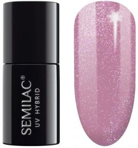 319 Lakier hybrydowy UV Hybrid Semilac Shimmer Dust Pink 7ml