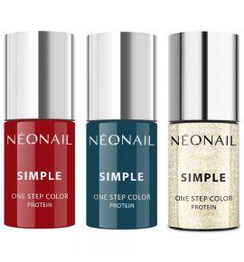 NEONAIL SIMPLE ZESTAW 2+1 ONE STEP HYBRID 3w1 MIX Kolorów